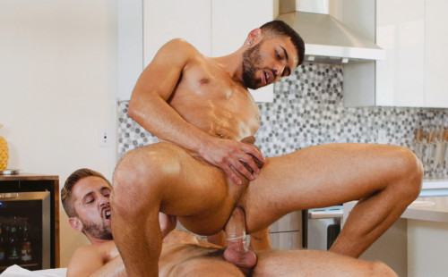 Angel Duran takes a ride on Wesley Woods' big cock