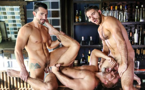 Dirk Caber, Jimmy Durano and Jackson Grant fuck