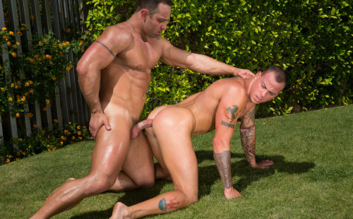 Fabio Stallone stuffs Sean Duran's ass with his thick meat