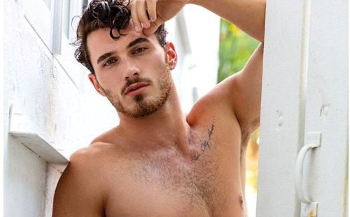 A nearly nude Michael Yerger from Survivor Ghost Island