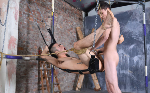 Titus Snow Fucks Yoshi Kawasaki In A Leather Sling