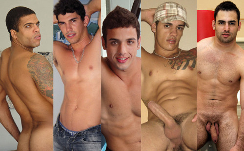 Variety Of Italian and Brazilian Men In Sexy Solos