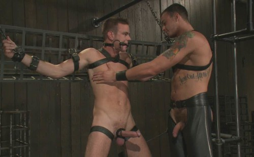 Matthew is bound and hard and gagging for it!