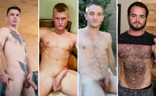 James, Blake, Logan and Steve jerk off