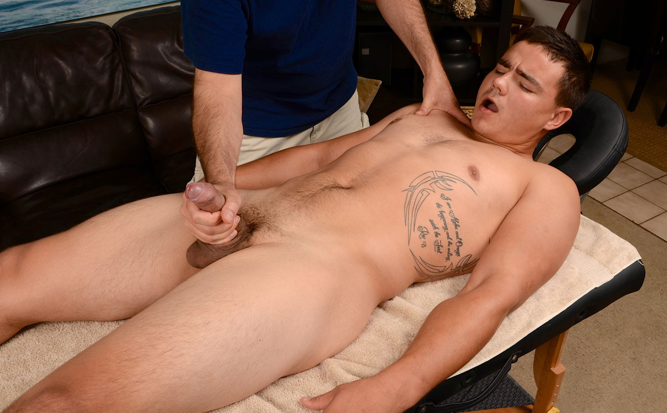 Straight guy massage happy ending